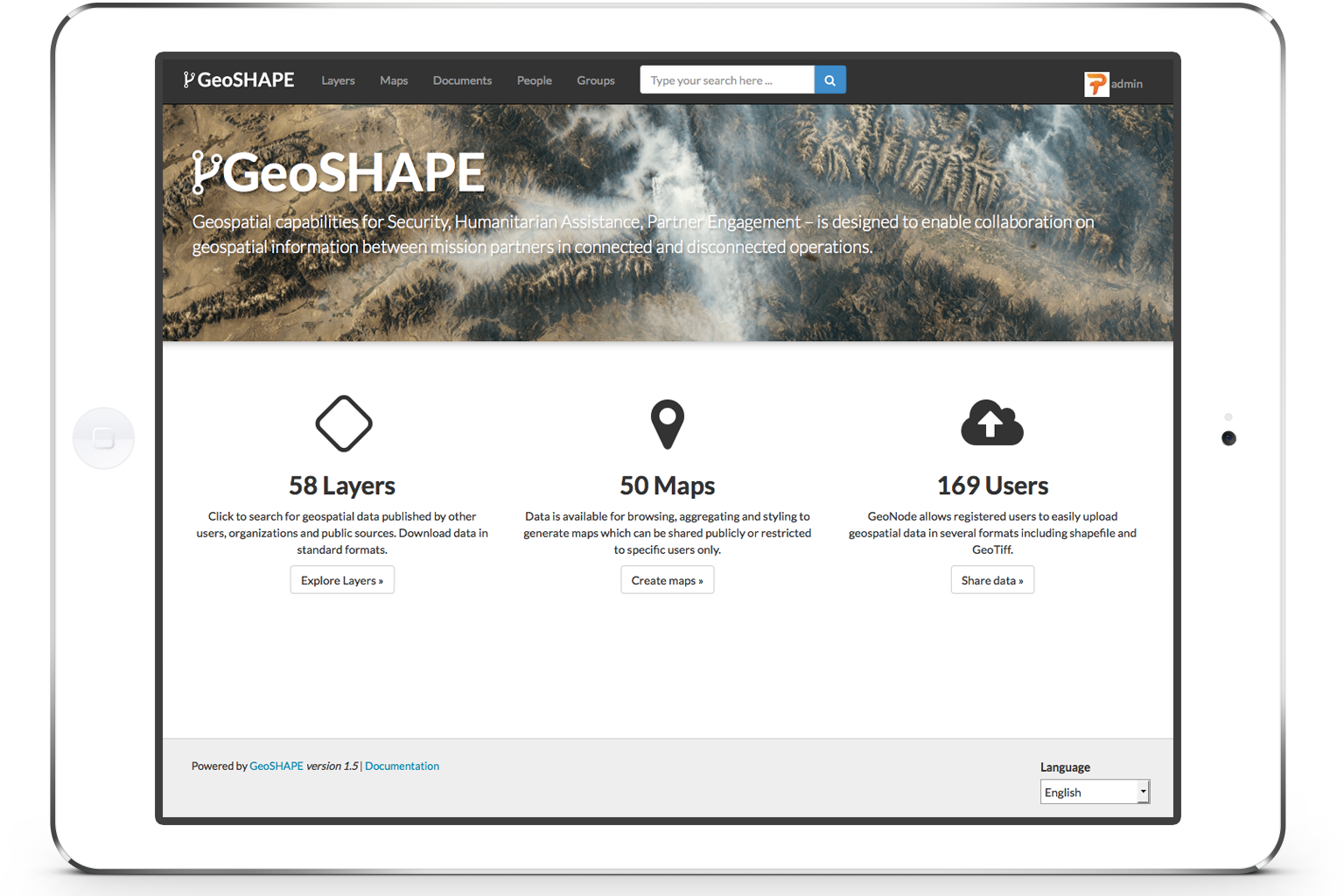 GeoSHAPE screenshot
